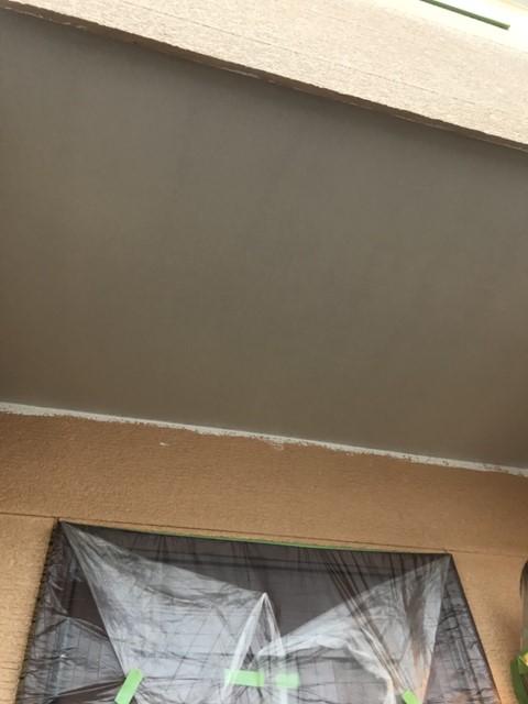 軒天塗装 白