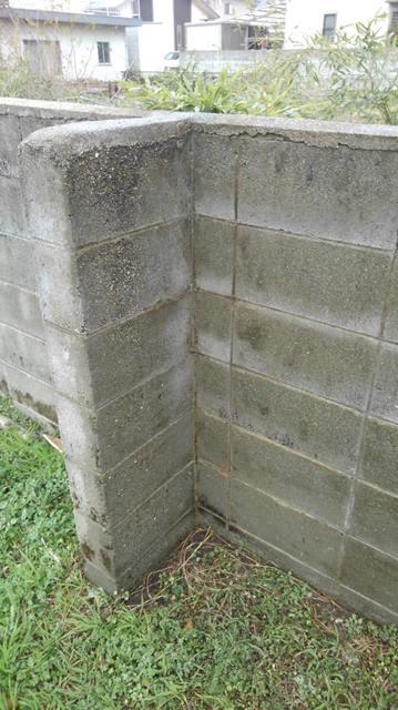 ブロック塀 高圧洗浄後