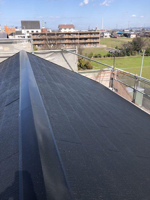 屋根塗装仕上がり