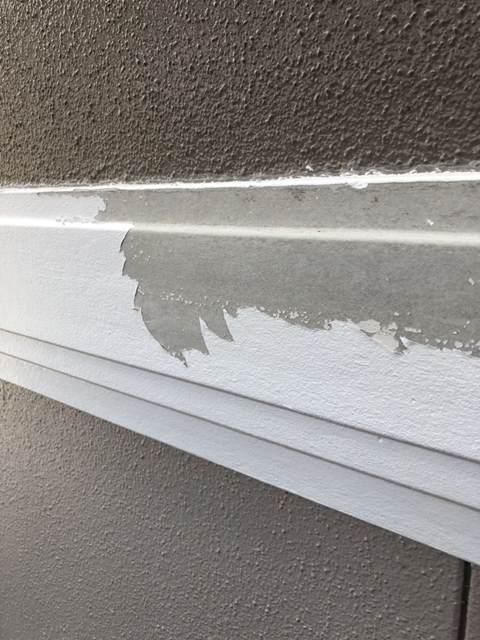幕板 塗料剥がれ