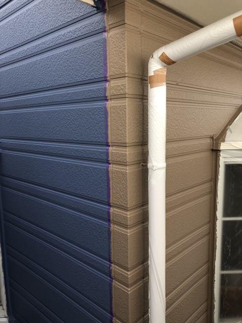外壁上塗り 塗り分け