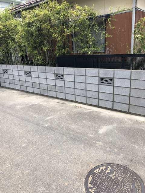 境界ブロック工事