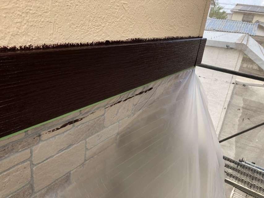 帯板塗装 外壁 ファインウレタン