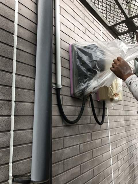 今治市 外壁塗装 養生