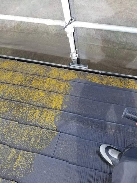 今治市 屋根塗装 高圧洗浄
